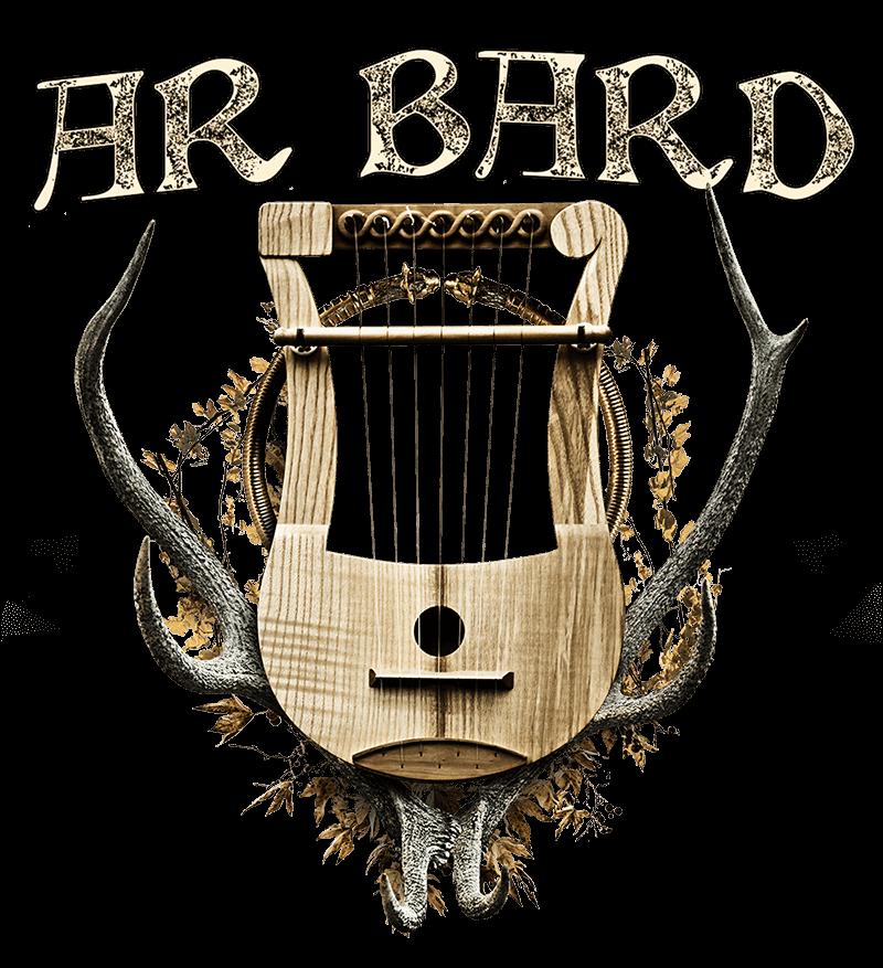 Logo d'Ar Bard, lyre et musique rock progressif, métal