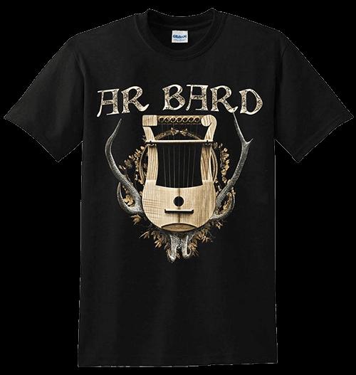 T-shirt noir logo Ar Bard